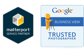 Certificaten Matterport Service partner en Google Trusted Photographer