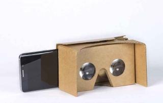 Goedkope variant van VR laten zien