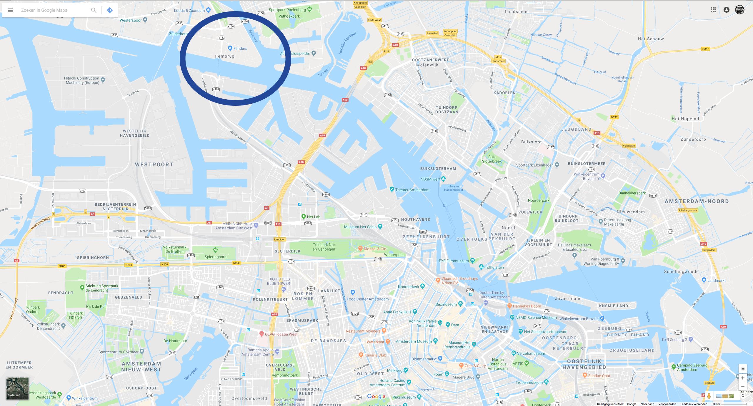 Retail winkel op Google Street View
