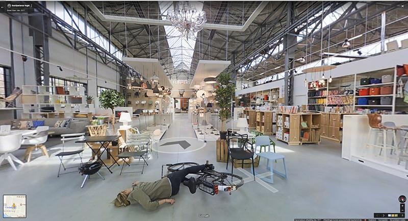 Snapshot van de Flinders Winkel op Google Streetview