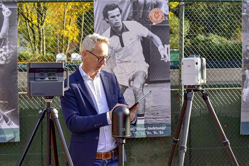 Rolf Vogel met Leica BLK360 en Matterport Pro 2
