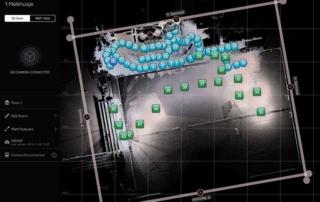 Screenshot van Matterport capture App met Leica BLK360