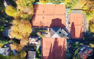 Drone foto van tennis club 't Melkhuisje
